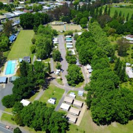 Myrtleford Holiday Park Aerial Shot